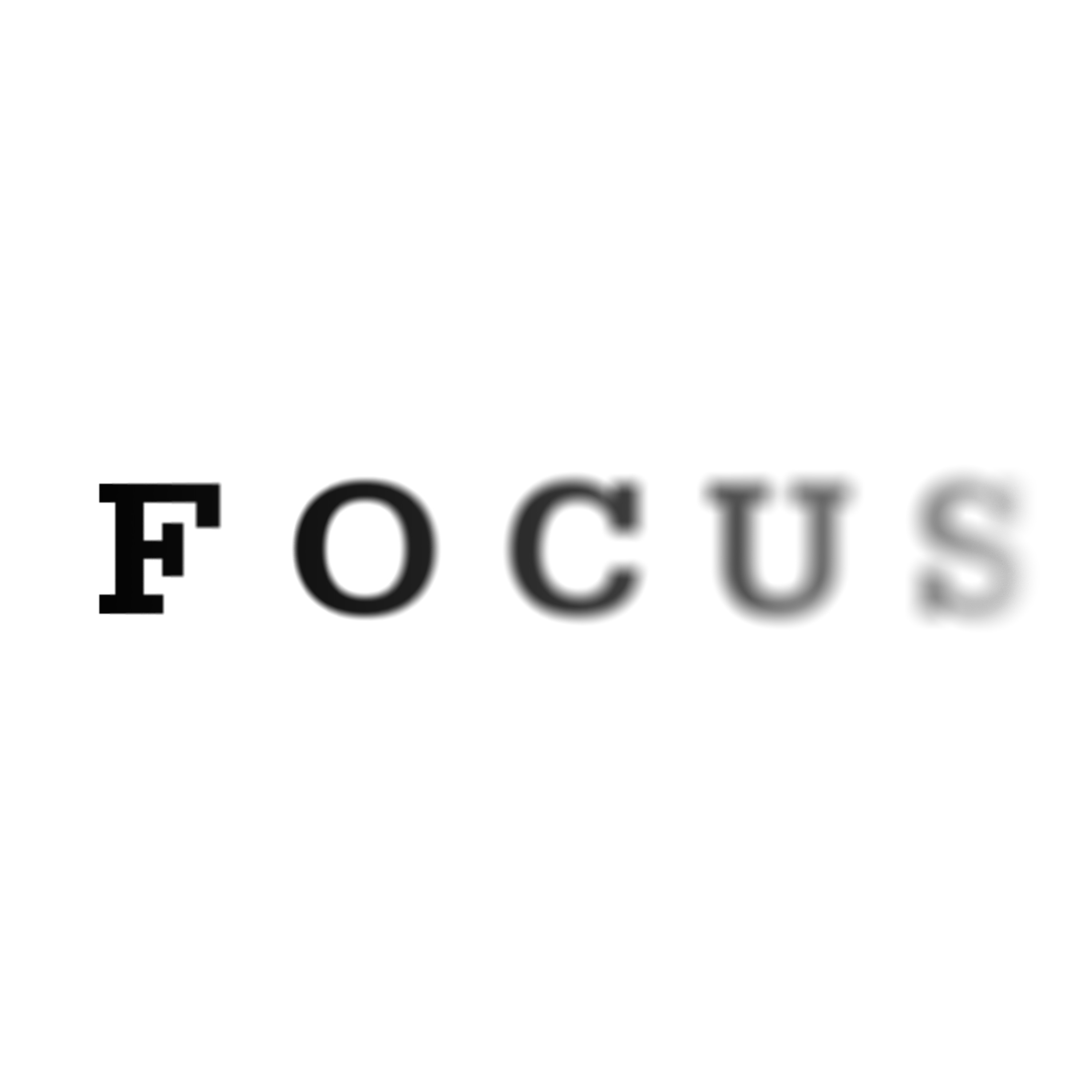 going out of focus