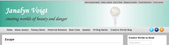 Janalyn Voigt Website Screenshot