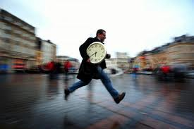 running with clock