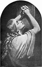 woman praying--parodic