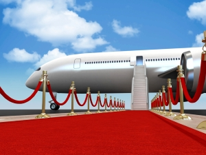 Plane red carpet