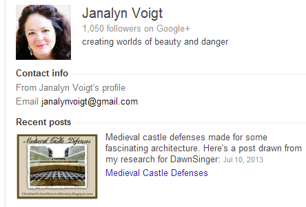 Janalyn Voigt's Google author bio
