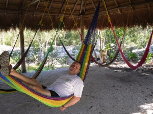 Resting in a Hammock