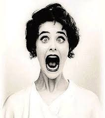 Woman afraid (funny)