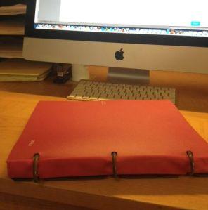 Image, pink binder
