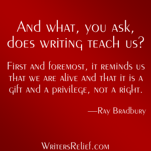 What Does Writing Teach Us?