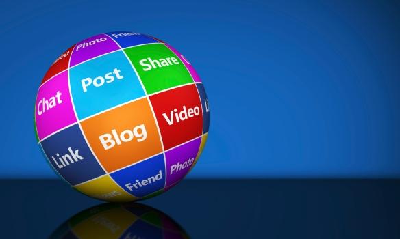 Social Media Sign Web Globe